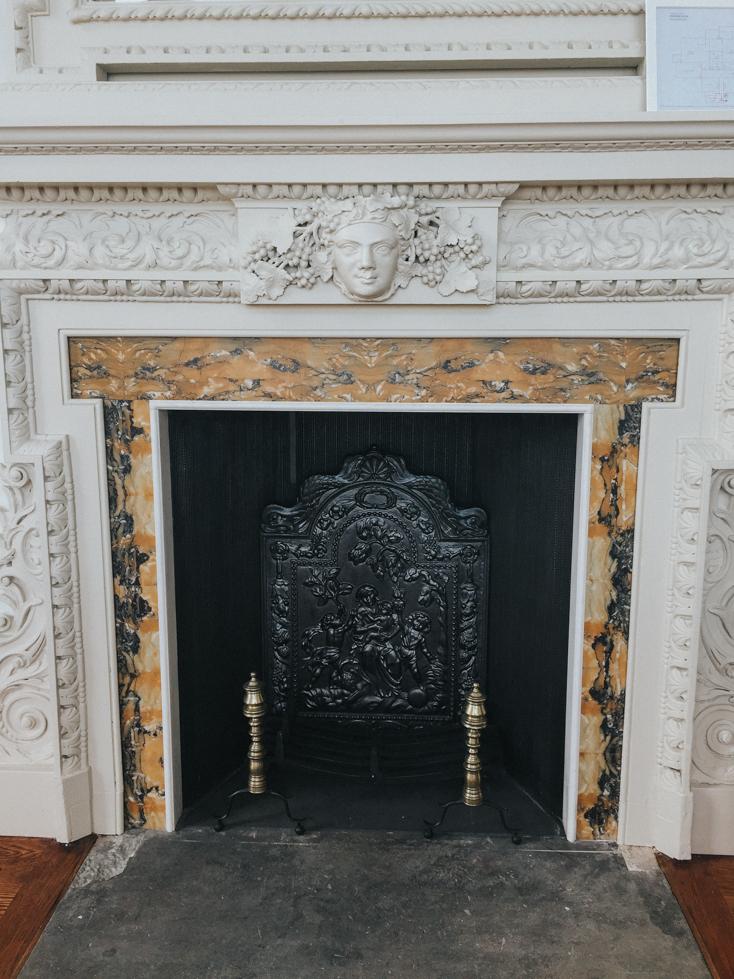 Fireplace inside Lews Castle